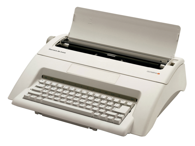 graphic stock Hij wordt nog steeds. Typewriter vector vintage style