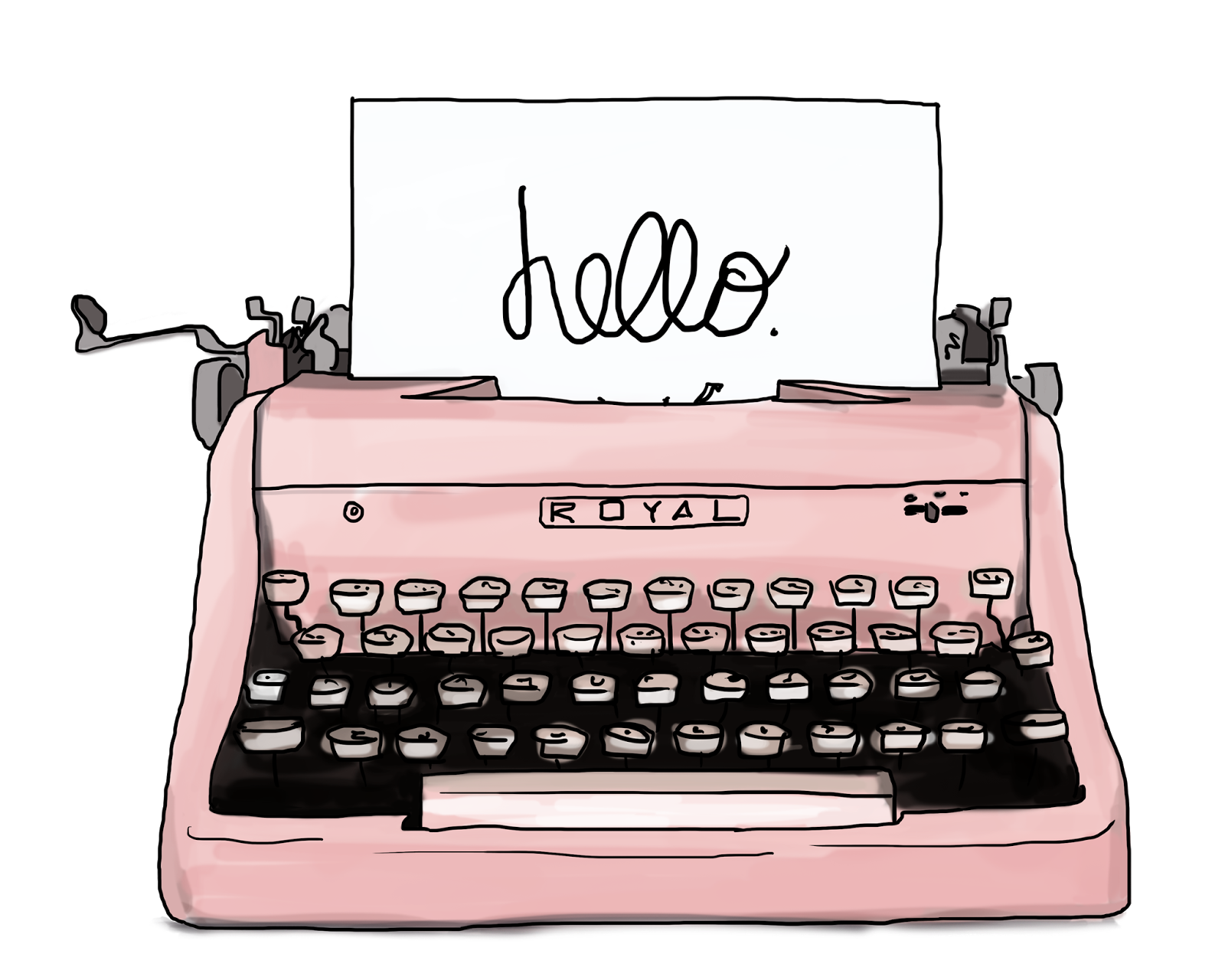 graphic freeuse stock Collection of free drawing. Typewriter vector vintage style