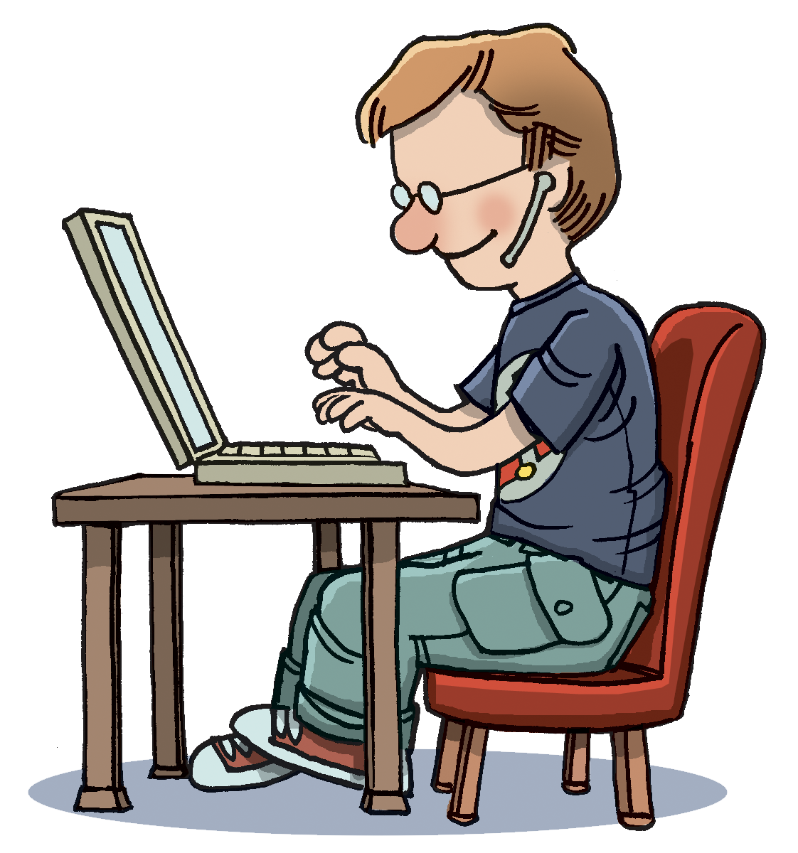free library . Typing clipart