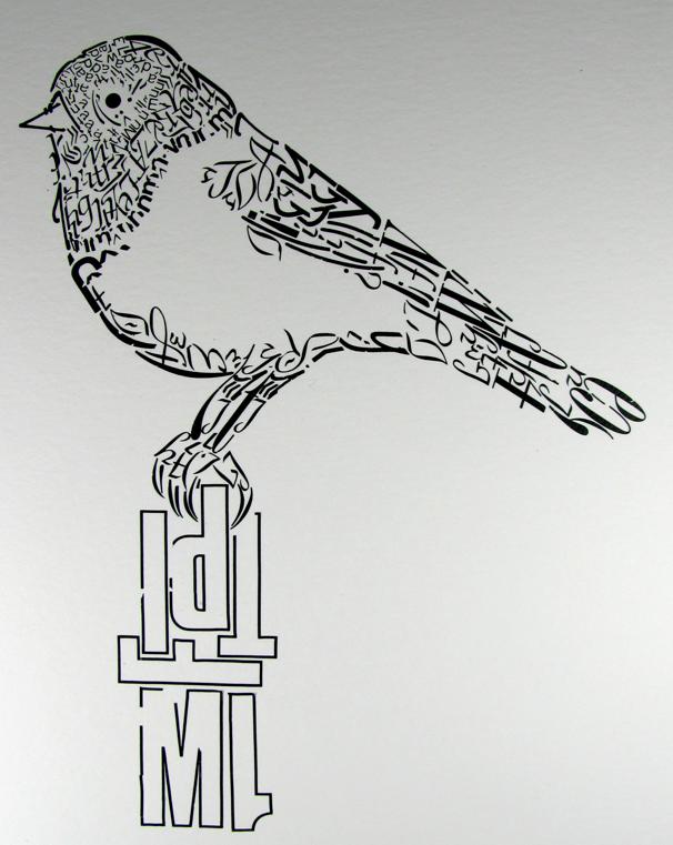 clipart free stock Job graphic design fine. Typography drawing bird