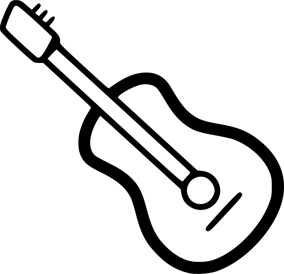picture free stock Typography drawing guitar. Svg png icon free