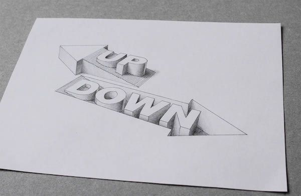 banner transparent download Awesome d creates optical. Typography drawing illusion
