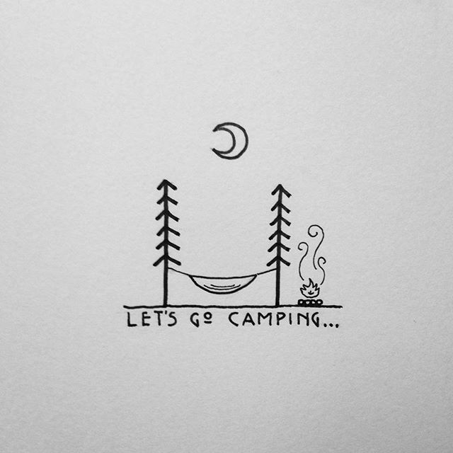 image free Typography drawing simple. Camping adventure inspiration in
