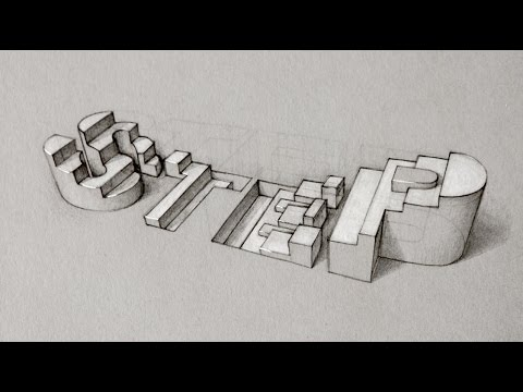 jpg download Typography drawing sketch. Quick d steps process