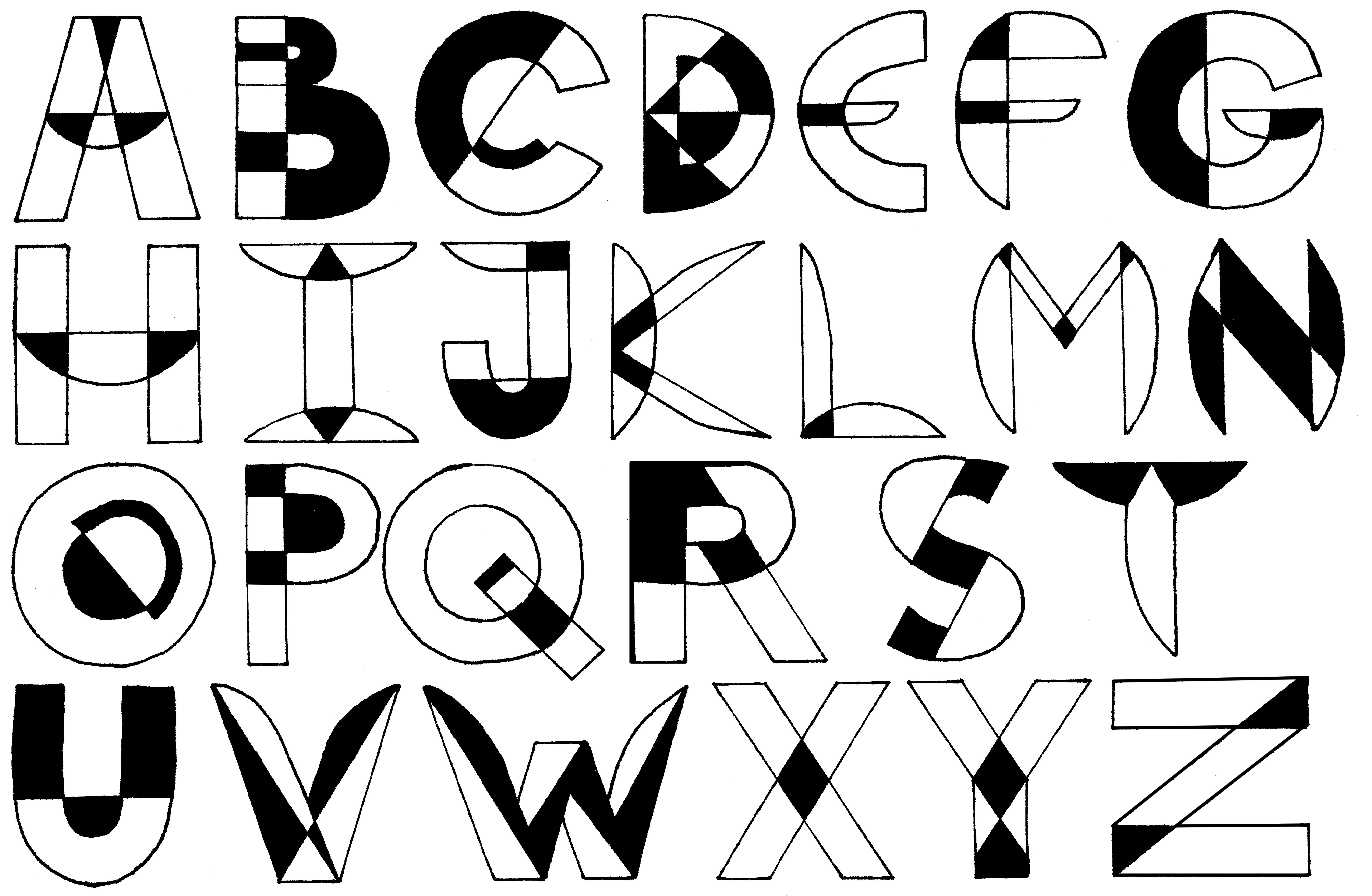image Typography drawing text. Herbert bayer ben henderson