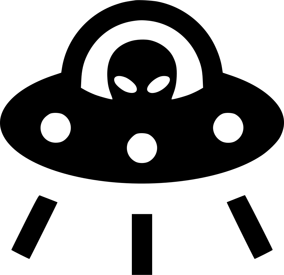 vector black and white stock Ufo space ship alien. Vector spaceship element