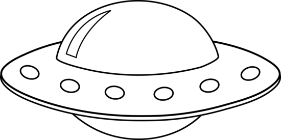 image transparent library Black and White UFO Lineart by Liz Aragon