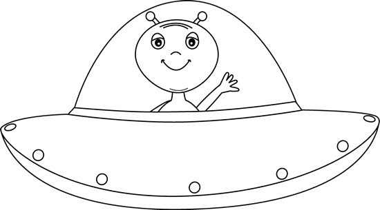 graphic black and white library Ufo Clipart transparent background