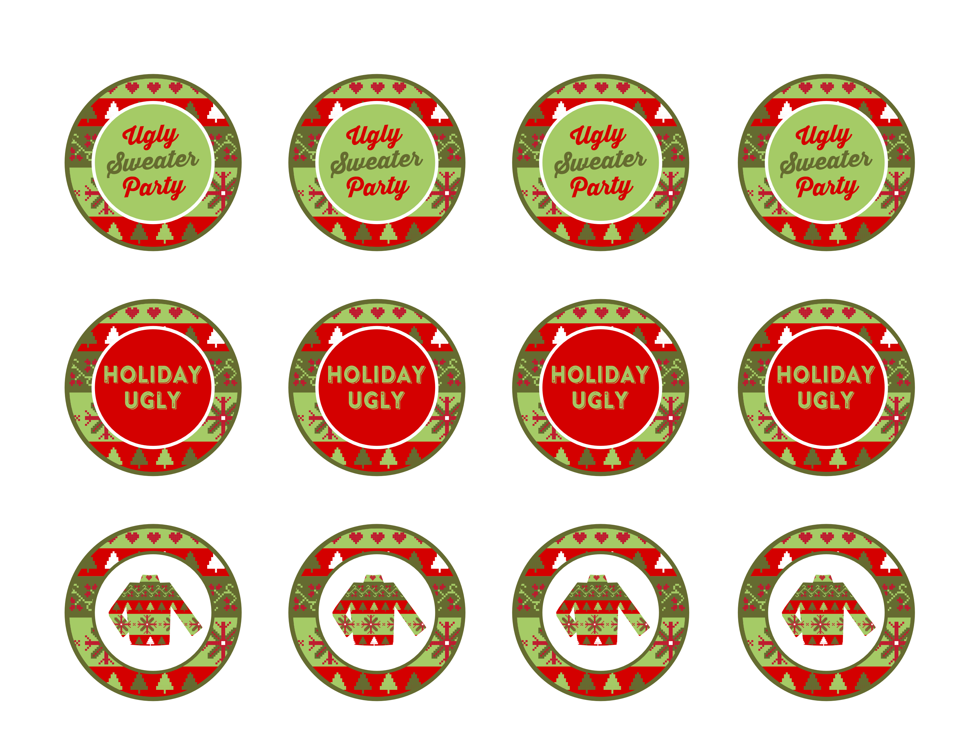 jpg freeuse library Party printables catch my. Ugly sweater clipart free.