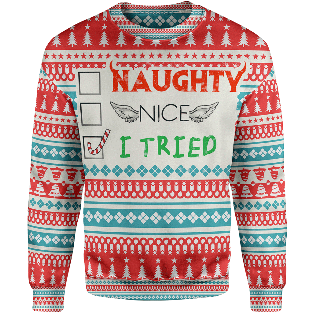 vector free Ugly christmas sweater clipart free. I tried lunafide