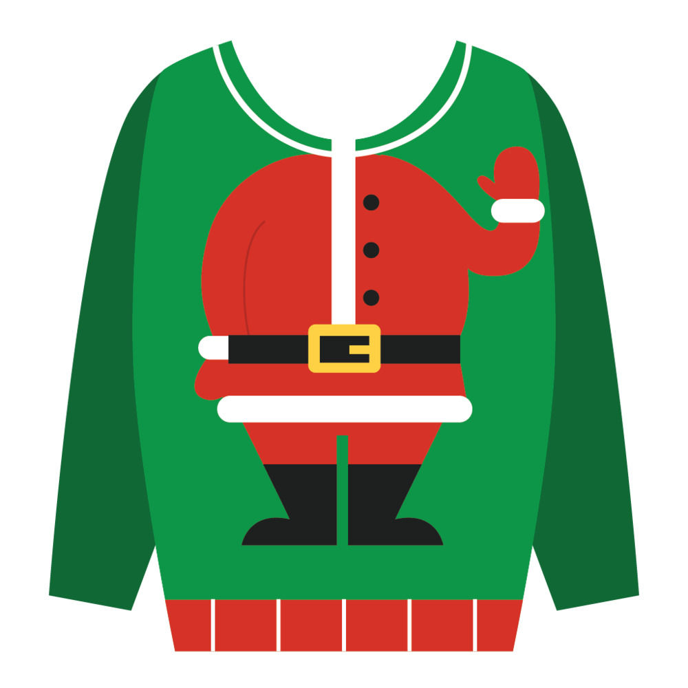 graphic freeuse Ugly christmas sweater clipart free. Imessage stickers menard interactive