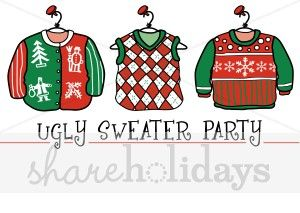 clip transparent library Pin on . Ugly christmas sweater party clipart