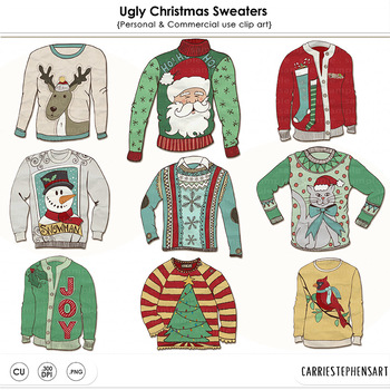 banner transparent library Ugly christmas sweater party clipart. Tacky sweaters festive holiday