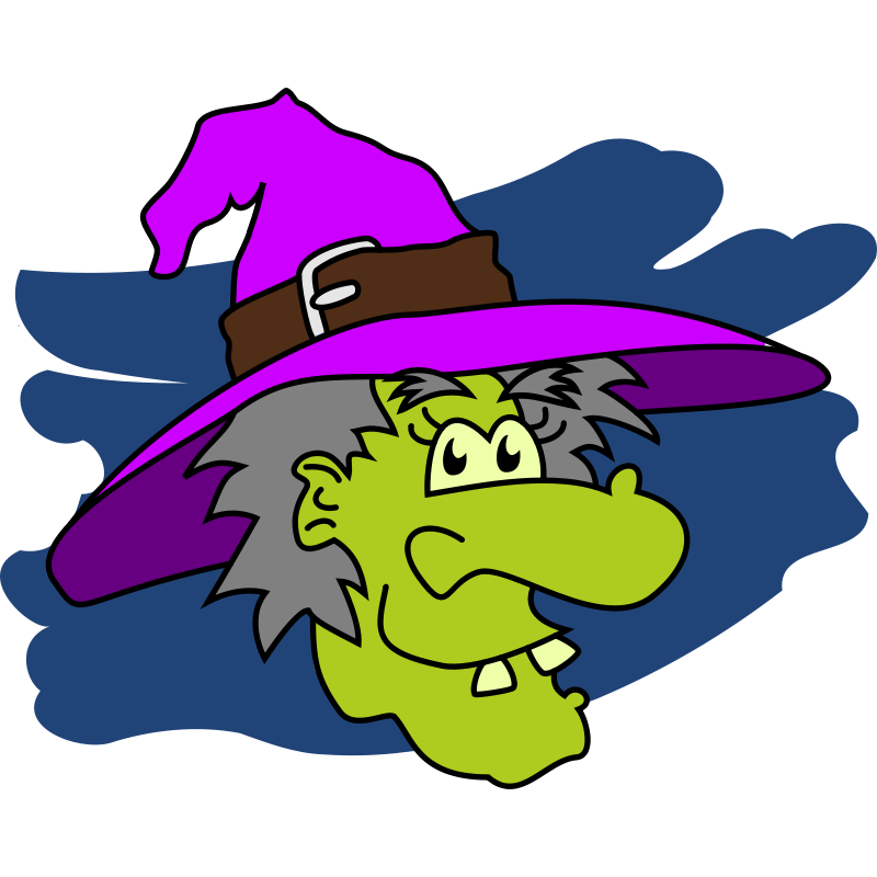 black and white ugly clipart witch nose #52405057
