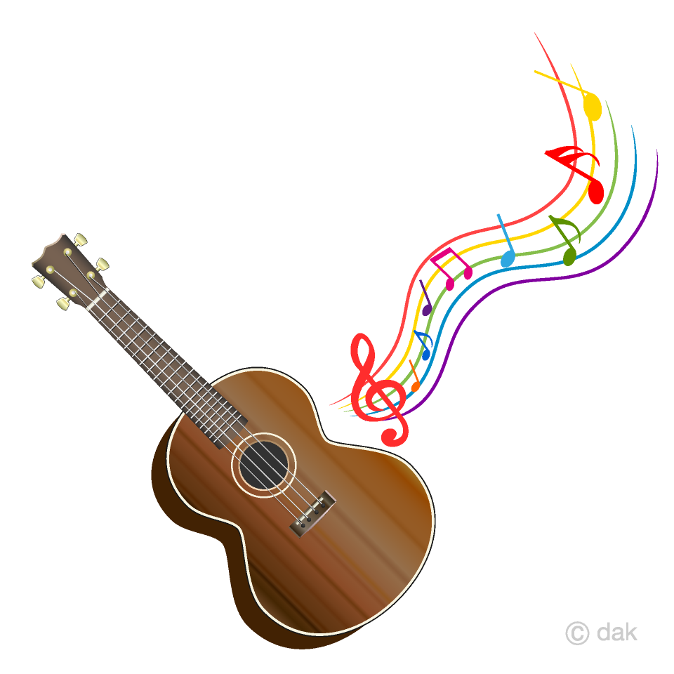 banner freeuse Ukulele and colorful music. Acoustic clipart cute.