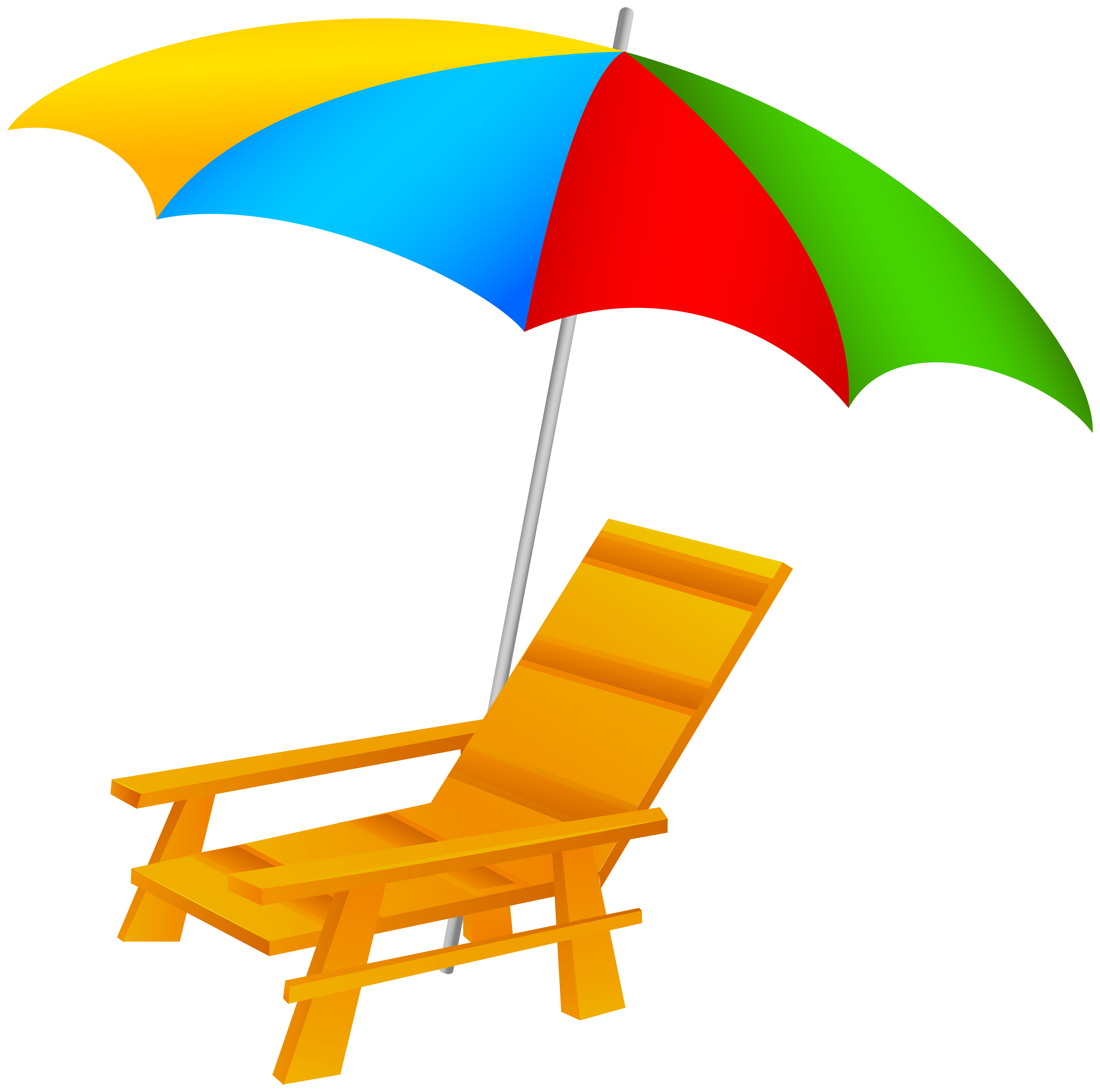 image royalty free Beach Umbrella and Chair PNG Clip Art