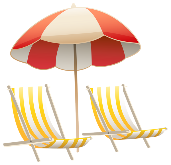 clip library stock Beach Umbrella and Chairs PNG Clipart Image