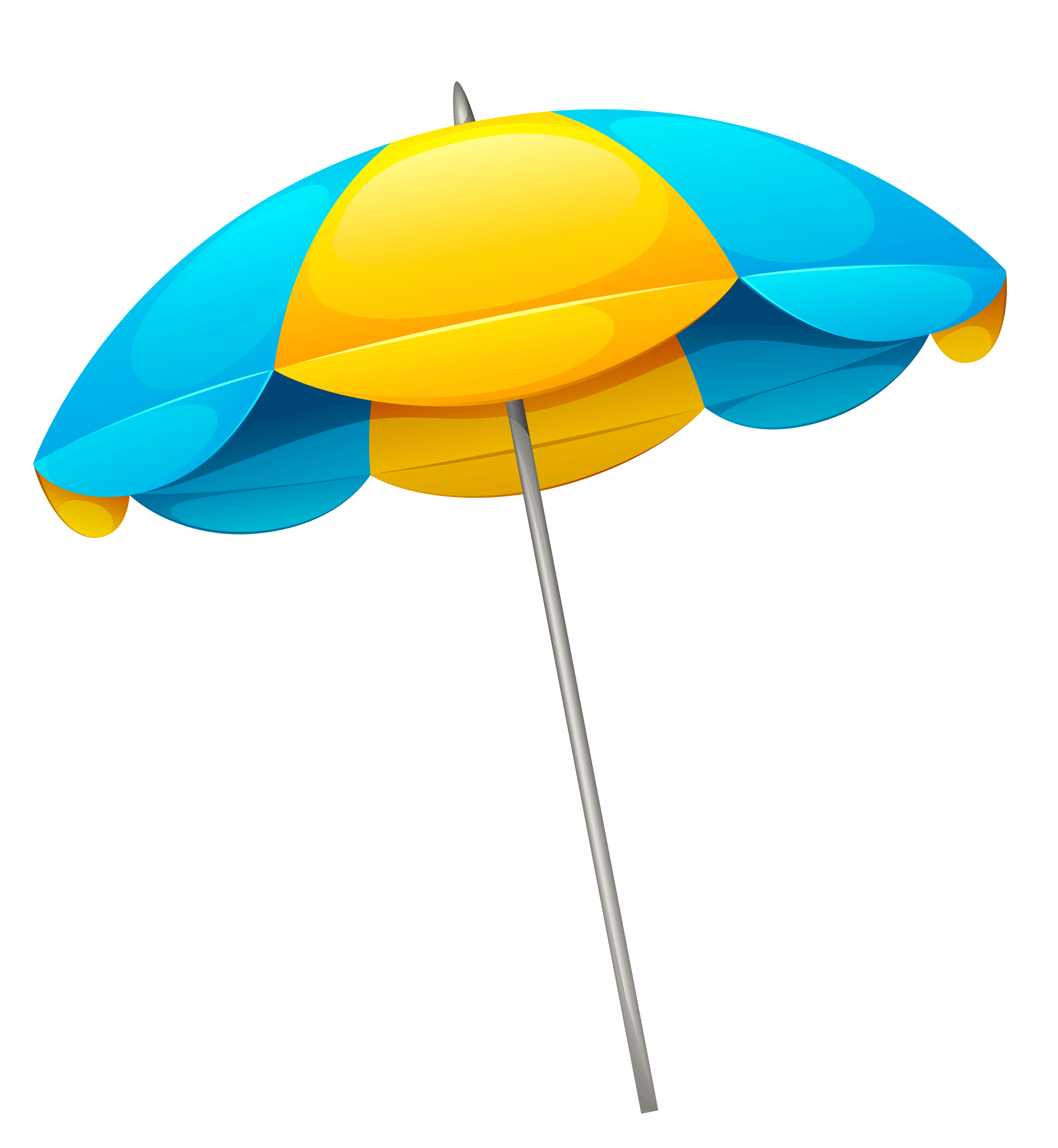image free library Yellow blue umbrella png. Beach transparent file