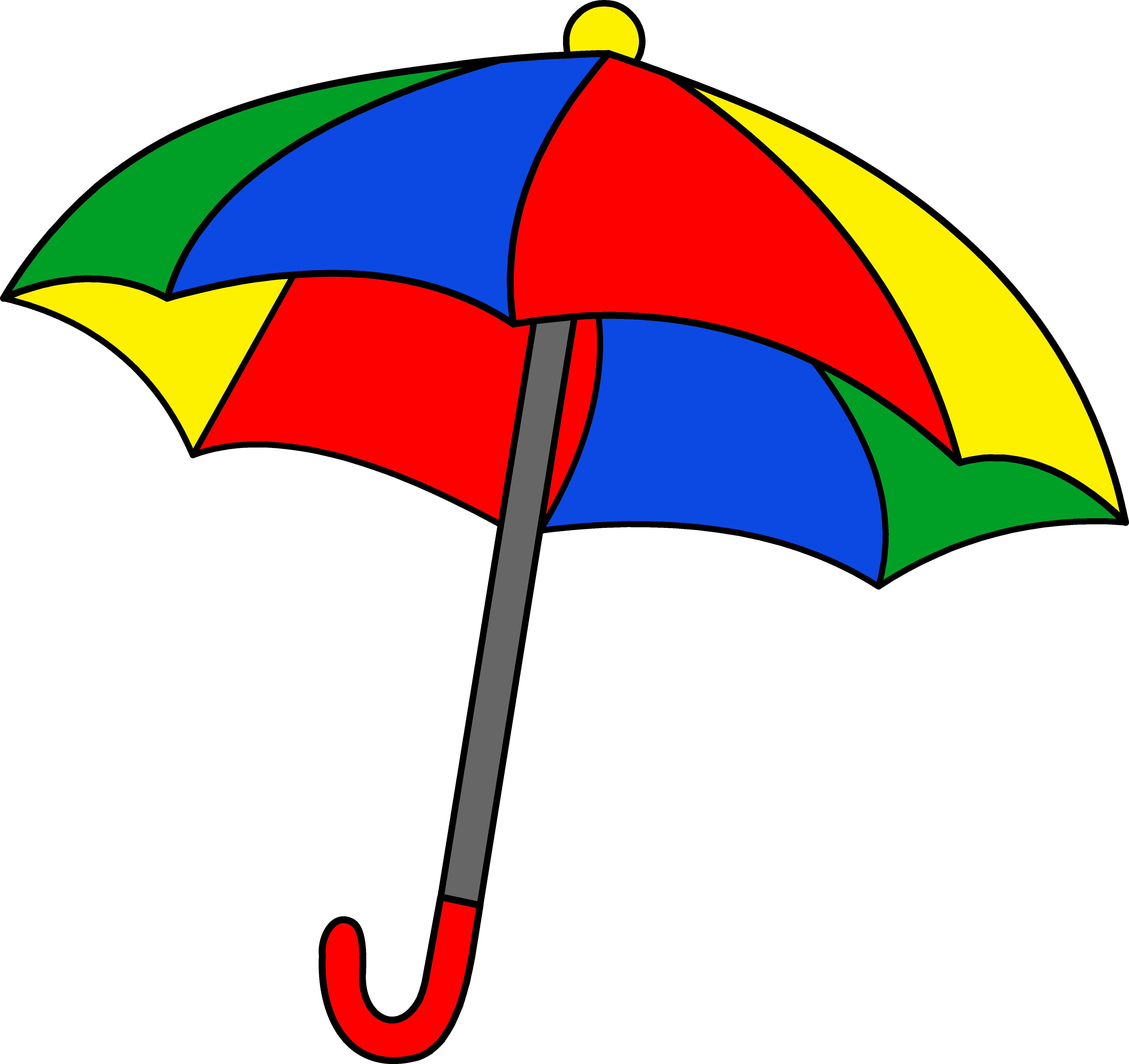 freeuse library Black and white clipart rainbow. Umbrella