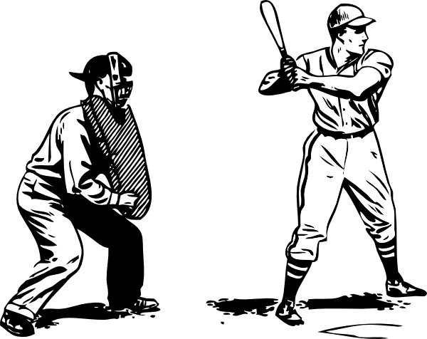 image black and white download Baseball . Umpire clipart