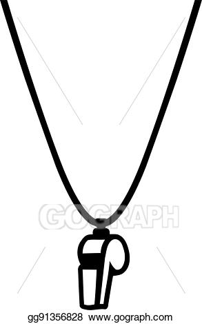clip free stock Umpire clipart sport whistle. Vector referee necklace