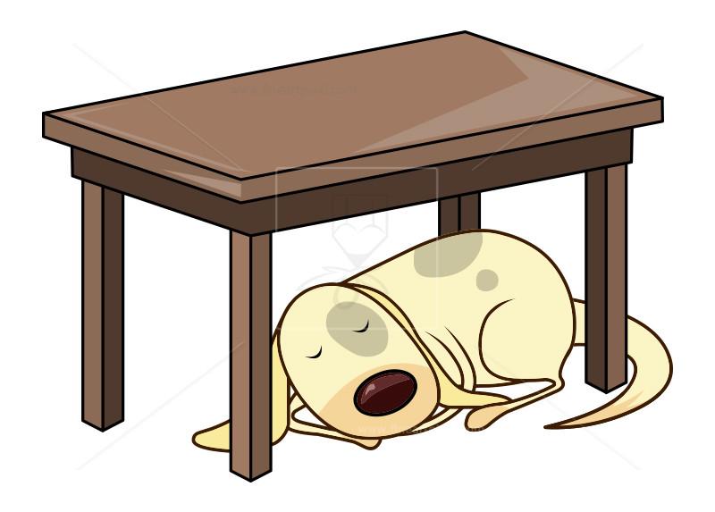 png freeuse download Dog sleeping table illustration. Under clipart
