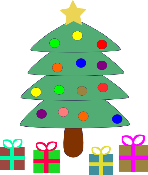 vector library library Christmas Tree Gifts Clip Art at Clker