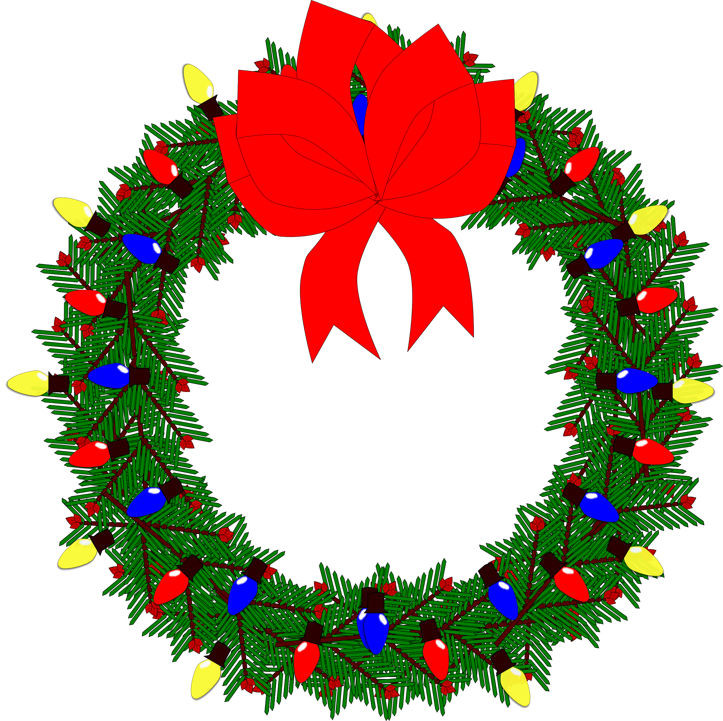 svg library library Christmas wreath clipart. Big image png