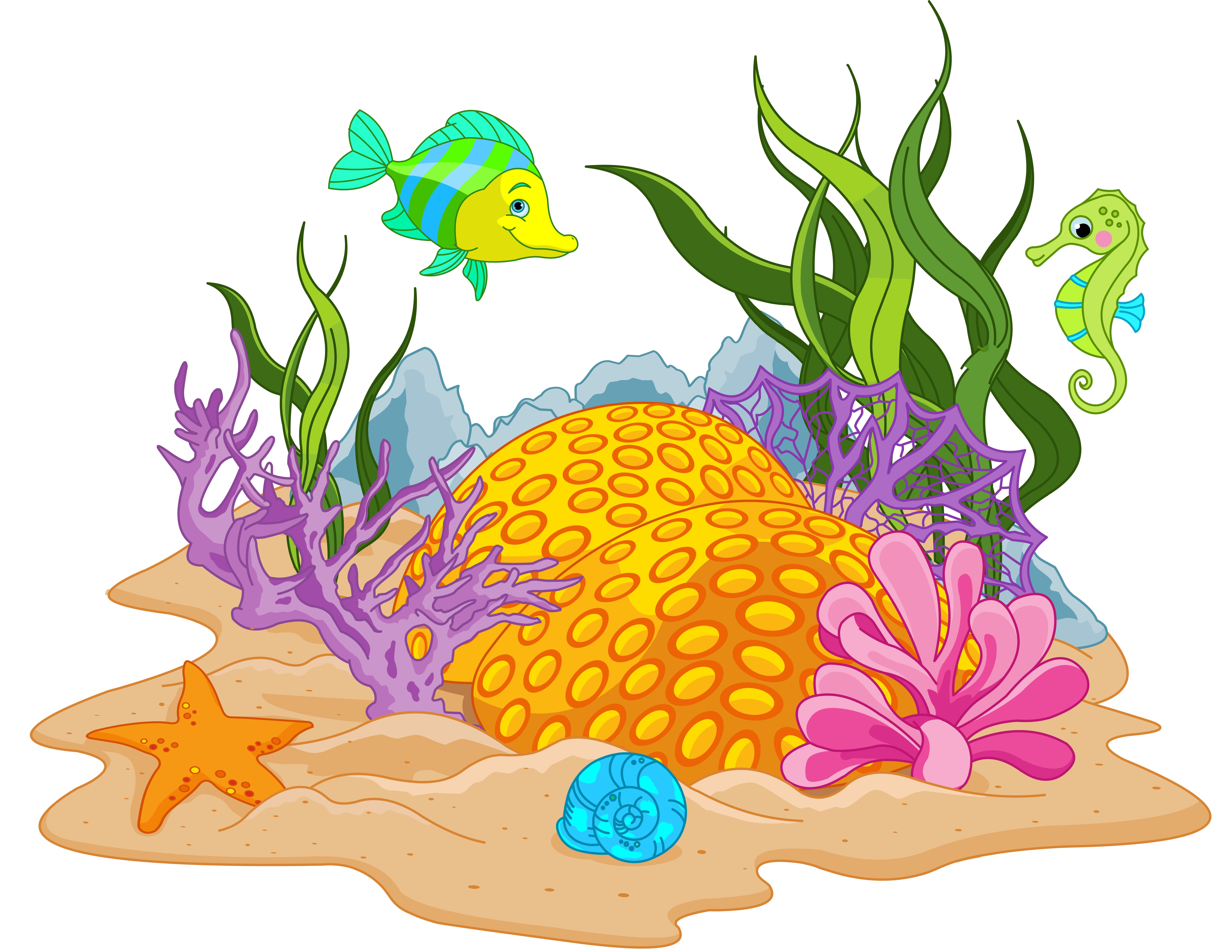clip art freeuse vector river underwater plant #108336513