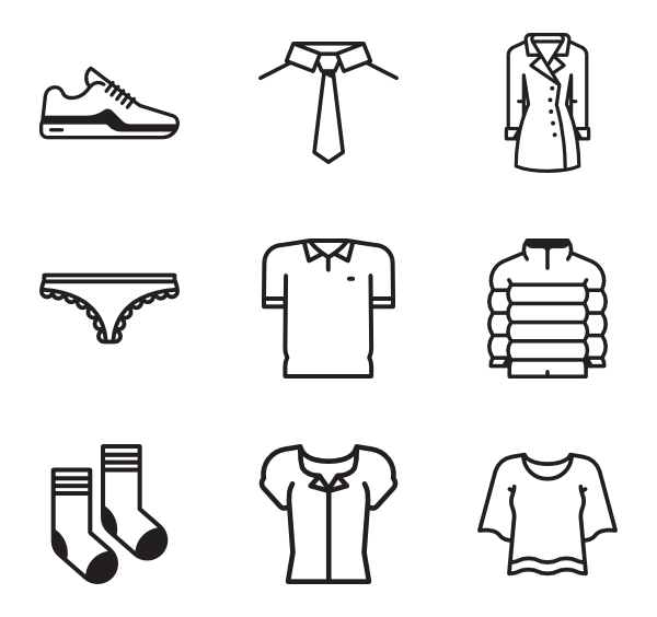 jpg freeuse Underwear icons free clothes. Vector clothing outline