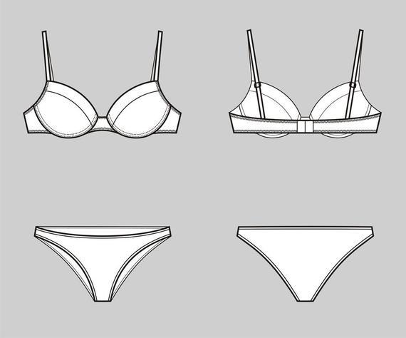 jpg royalty free stock Underwear vector. Bra and fashion flat.