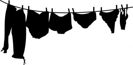 clip transparent download Pin on vintage clothing. Underwear vector clothesline