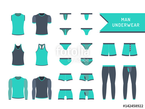 vector library stock Underwear vector different style men. Set of is painted