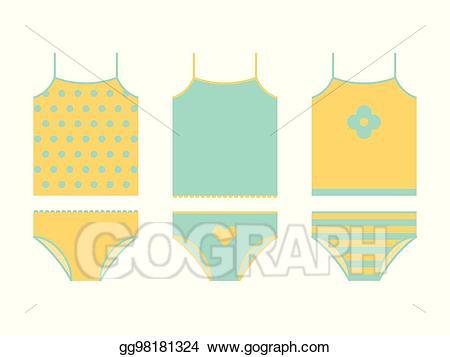 picture transparent stock Underwear vector kid clipart. Eps illustration set shirt