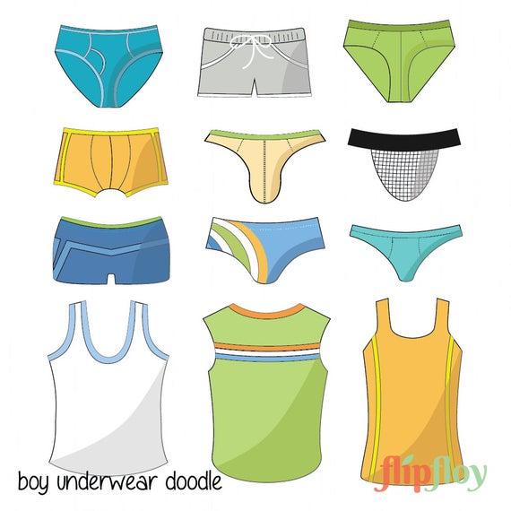 svg freeuse library Underwear vector man. Instant download cartoon doodle