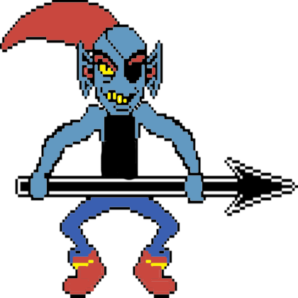 png stock Undyne transparent color. By lukethedeadpoolfan on deviantart