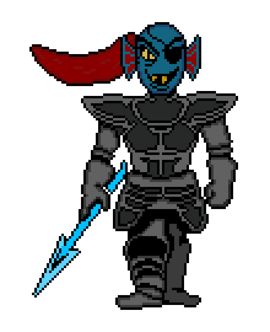 png Undyne transparent color. Pixilart colored by luong