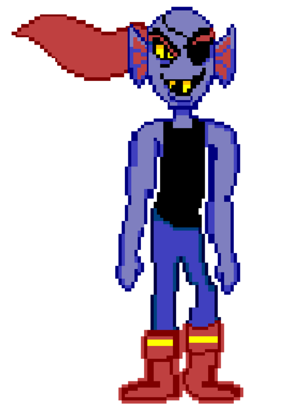 svg royalty free Sprite by kirbypupppets on. Undyne transparent color