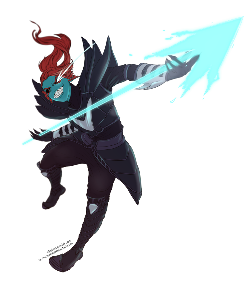 clip art library stock Undyne transparent the undying. By v idless on