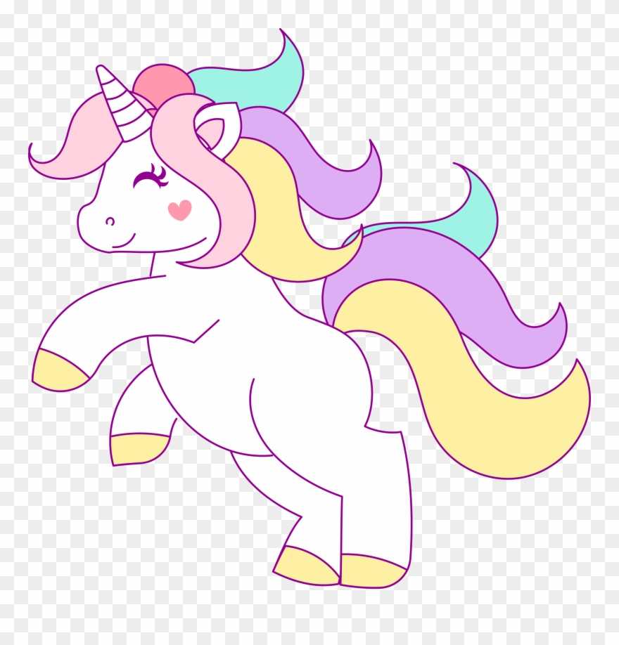 clipart freeuse library Free hand drawn clip. Unicorn clipart