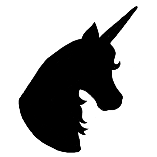 picture black and white Unicorn silhouette at getdrawings. Unicornio vector head
