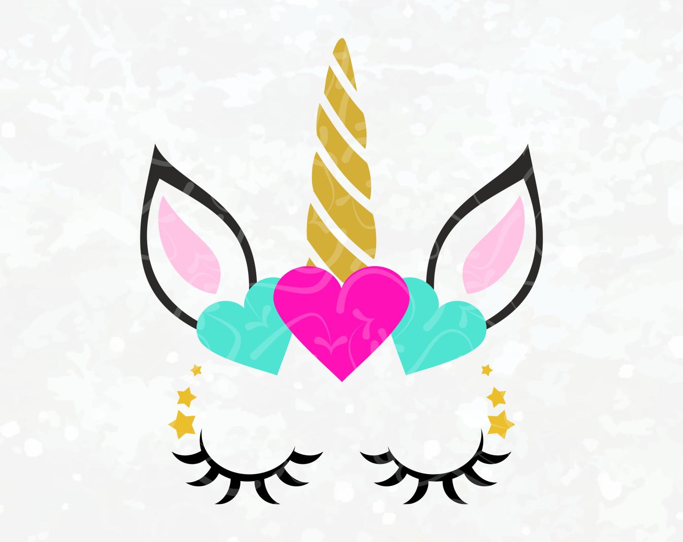 royalty free Unicornio vector head. Unicorn svg face iron