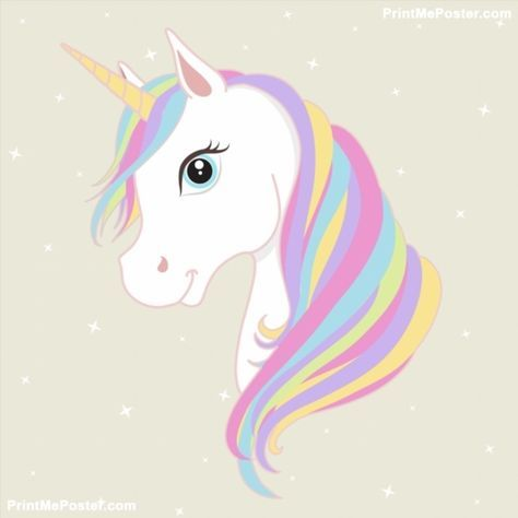 image freeuse stock White unicorn with mane. Unicornio vector head