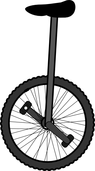 clip free stock Clip art at clker. Unicycle drawing