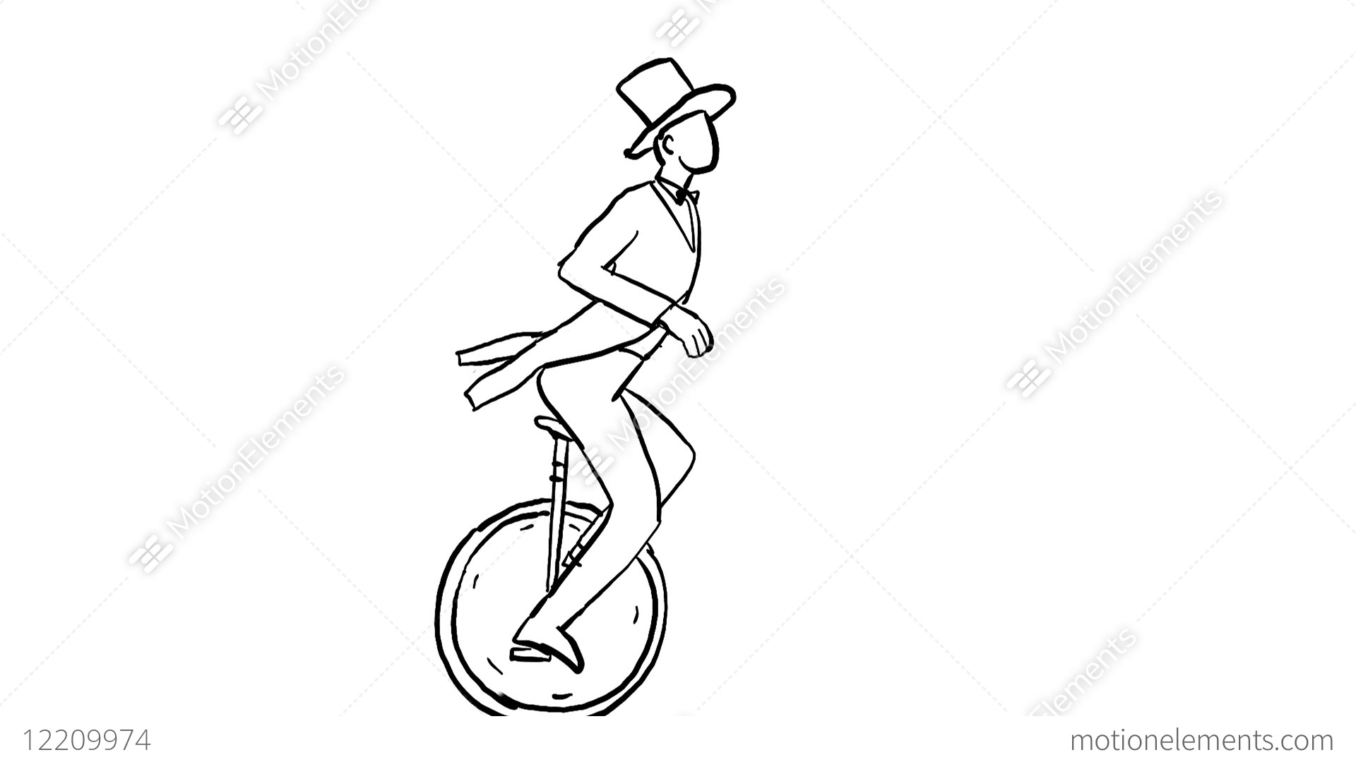 clipart library stock Unicycle drawing circus. At paintingvalley com explore