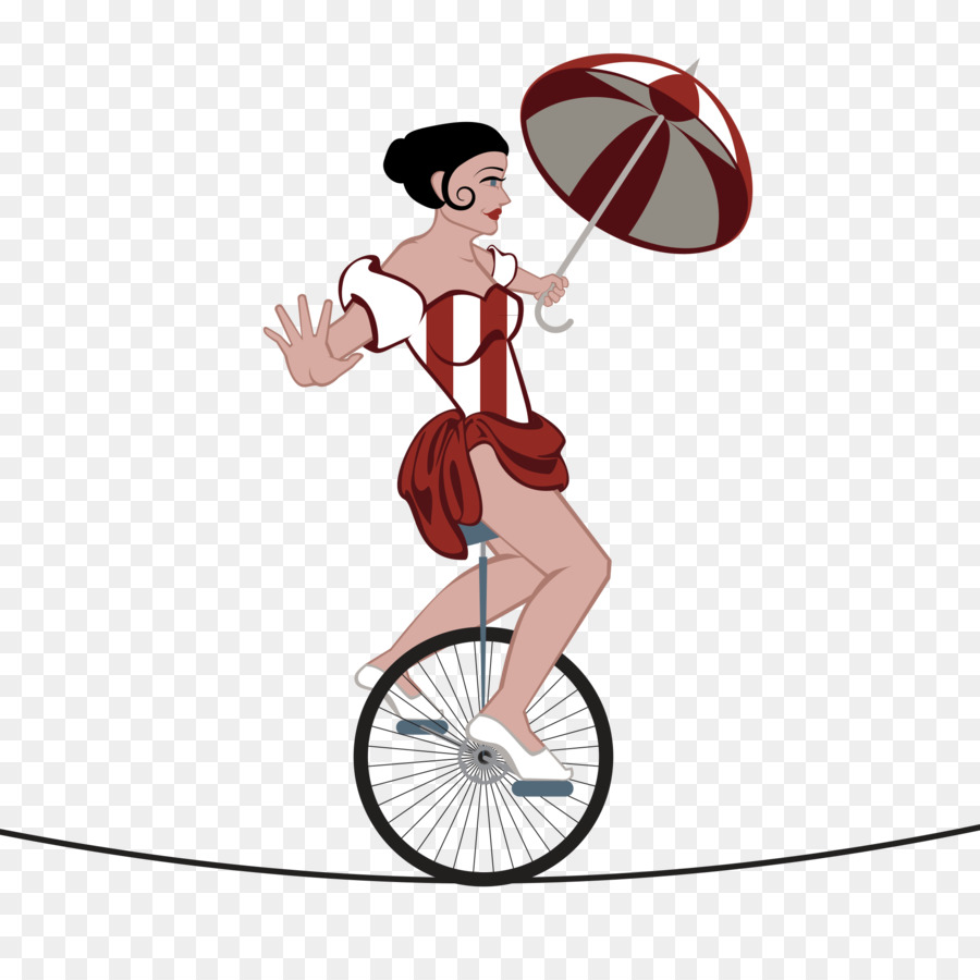 jpg royalty free library Unicycle drawing circus. Bicycle cartoon clipart