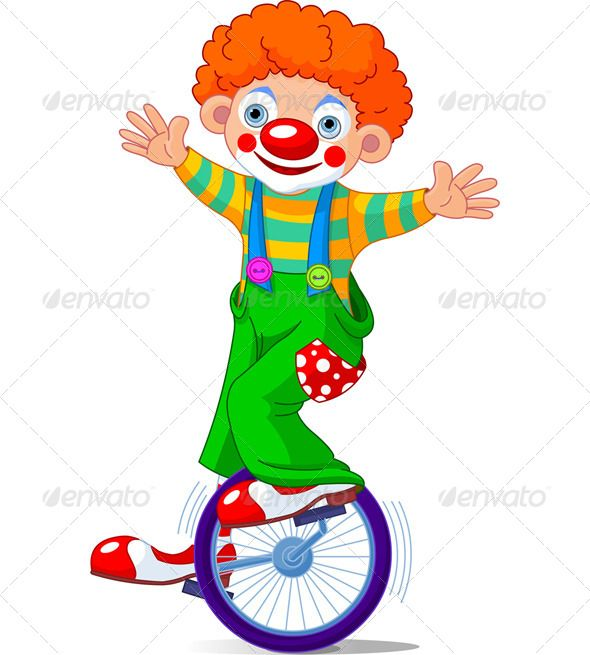 banner library download Unicycle drawing circus. Clown on graphicriver vectors