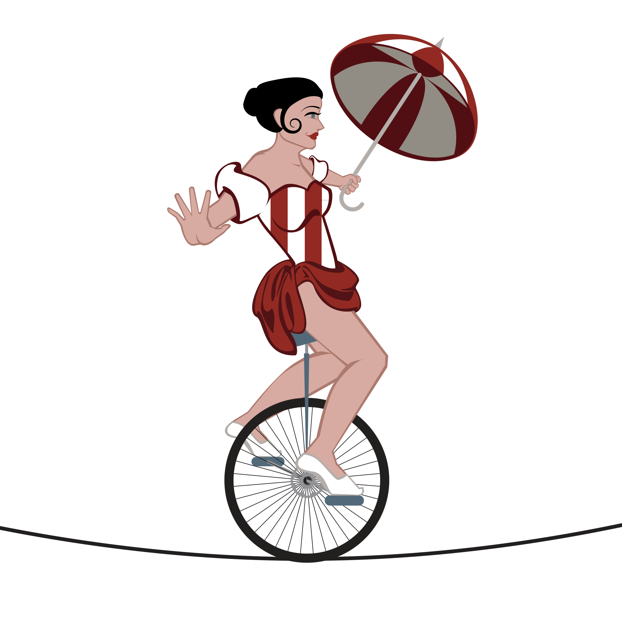 clipart Clipart pencil and in. Unicycle drawing circus