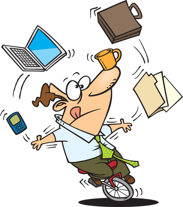 png transparent download Guy juggling many office. Unicycle drawing juggler