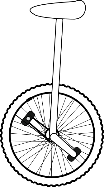 vector free Art clipart panda free. Unicycle drawing line